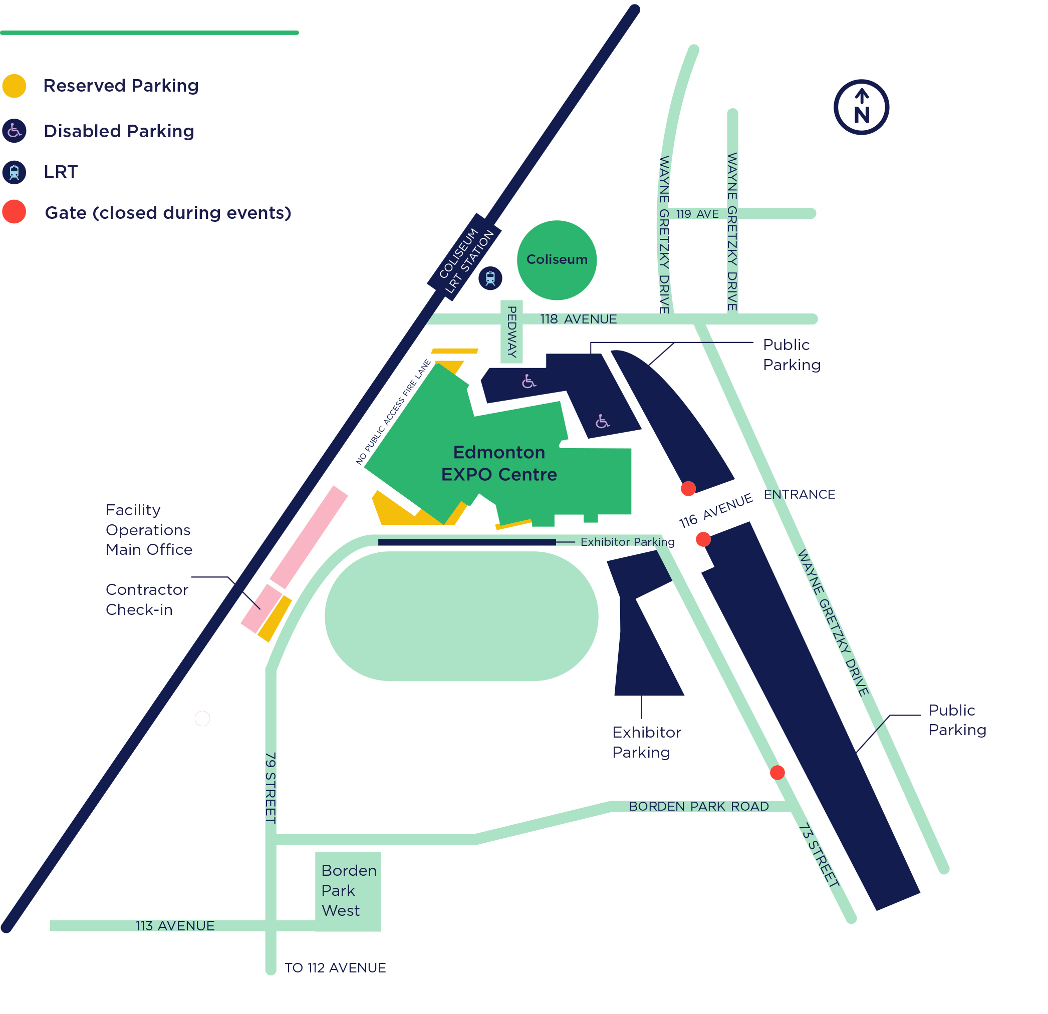 A grounds map of the EXPO Centre.
